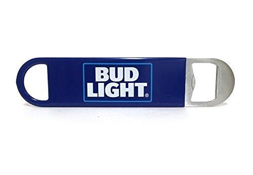 Bud Light Logo Bartender Metal Bottle Opener with Vinyl Wrap, Flat to Easily Slide into Pocket ()