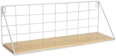 Kamenda Cesta de malla para armario o puerta de almacenamiento de pared de 17,7 pulgadas madera metal S