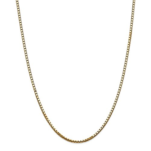 ICE CARATS 14k Yellow Gold 2.5mm Link Box Chain Necklace 24 Inch Fine Jewelry Gift Set For Women Heart by ICE CARATS