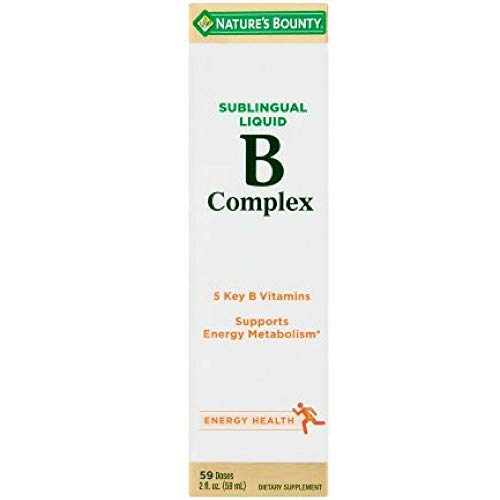 Nature s Bounty Vitamin B Complex Sublingual Liquid 2 oz Pack of 6
