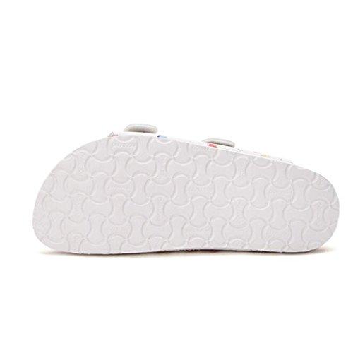 ocio Impresión PVC Zapatillas Parte superior suela de del 1 fondo Zapatillas de corcho verano EVA de con Fibra química plano S6qYSR