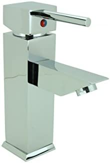 Bathroom Faucet Chrome Plated Square Single Hole 1 Handle Renovator s Supply