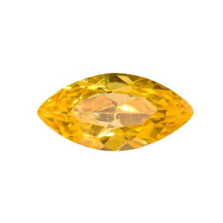 WireJewelry 14x7mm Marquise Golden Yellow Cz - Pack Of 1