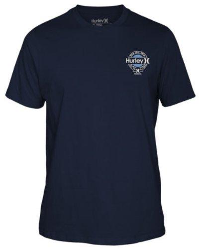 Hurley Men's Trademark Premium Fit T-Shirt, True Navy-Hurley, XX-Large