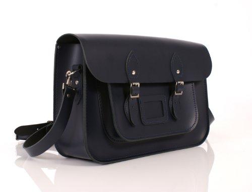 Leather Satchel's, Borsa a secchiello donna Patent Fuchsia