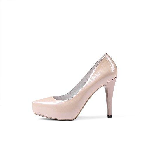 JIEEME Ladies Sexy Stiletto Genuine Leather Pointed Toe Black Red High Heels Party Women Court Pink Cv0Xldk2