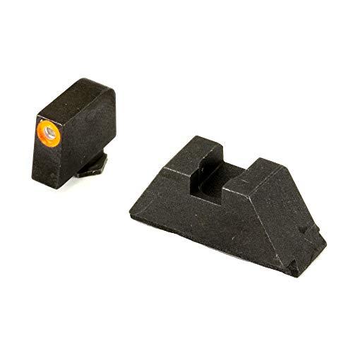 AmeriGlo Sight, fits All Glocks Except 42/43, Green Tritium Orange Outline Front Black Rear, Tall Suppressor Set