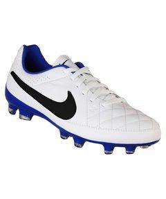 Nike Jr. Tiempo Genio Leather FG Soccer Cleat (Black, Green Strike) Sz. (Nike Jr Tiempo Genio Leather)