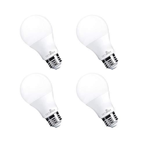 7W LED Light Bulbs(40W Equivalent),A19 Shape,E26 Base,Dimmable, Cool White(5000K),520 Lumens,UL Listed Energy Saving Home LED Lighting,Pack of 4 -