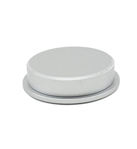 CEARI 39mm Screw Metal Body Cap and Rear Lens Cap Cover for Leica M39 Lens - Silver