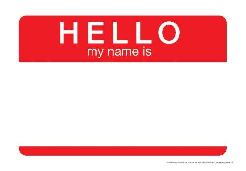 Aquarius Hello, My Name cartel de chapa