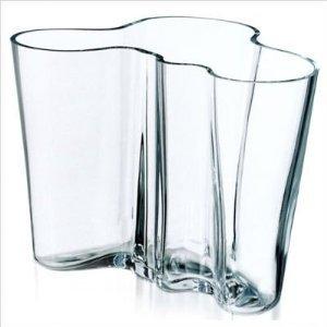 - iittala Alvar Aalto 6-1/4-inch Glass Vase, Clear