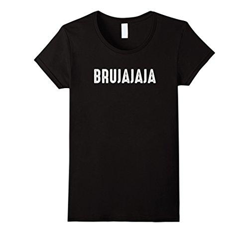 Womens Bruja Shirt Funny Halloween Spanish Witch Brujajaja XL (Bruja Halloween)