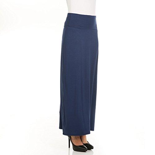 X America Womens Long Stylish Foldover Maxi Skirt, Rayon Spandex, Junior & Plus  ()