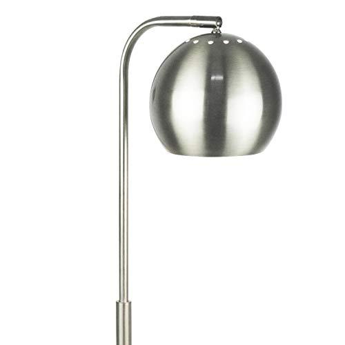 "- LightAccents Showroom Quality Mid Century Modern Floor Lamp, Globe Reading Light 59"" Tall Brushed Nickel Finish"