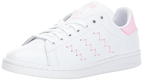 adidas Originals Women's Stan Smith W, White/White/Wonder Pink, 8.5 Medium US by adidas Originals
