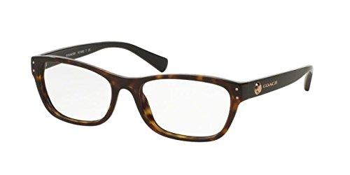 COACH Eyeglasses HC 6082F 5244 Dark Tortoise/Black - Frames New Eyeglass Coach