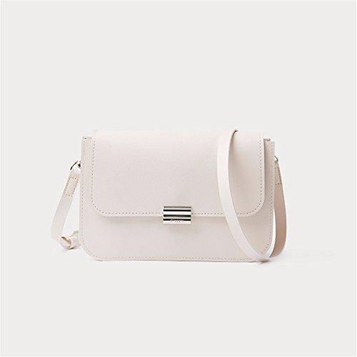 BMKWSG Women Handbags Fashion Handbags Women Simple PU Leather Shoulder Bags Messenger Tote Bags White