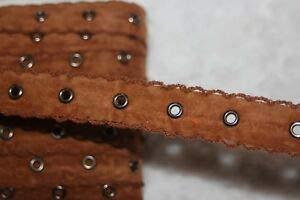 1 Yard Caramel Brown Velveteen Crochet Copper Grommet Grommets Eyelet Trim 1