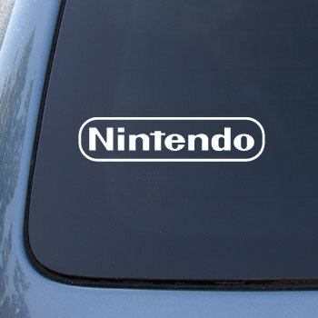 Nintendo - Game Console Playstation - Car, Truck, Notebook, Vinyl Decal Sticker #2515 | Vinyl Color: White