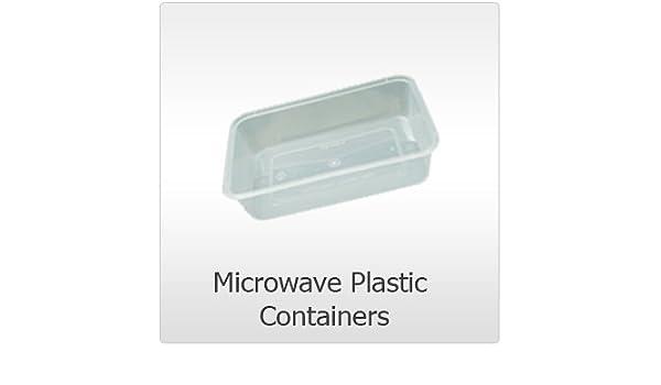 50 x microondas plástico seguro de Alimentos recipientes con tapas ...