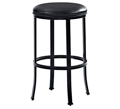 (Wood & Style Furniture Windsor Bar Stool, 30-inch, Black with Black Cushion Home Bar Pub Café Office Commercial)