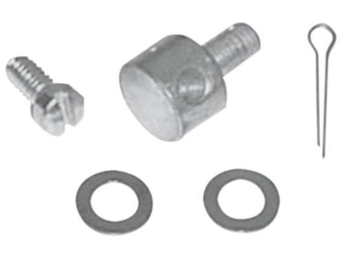 Colony Carburetor Throttle Lever Wire Block for Linkert and Bendix Carburetors - Cadmium 2658-5