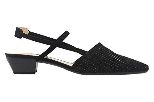 GABOR - Damen Slingback Pumps - Schwarz Schuhe in Übergrößen
