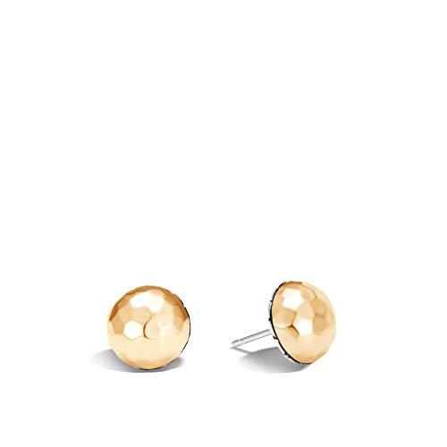 - John Hardy Women's Classic Chain Hammered Gold & Silver Large Stud Earrings - EZ999578