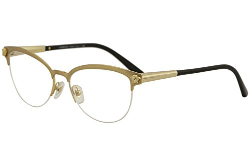 9f281a1ab5 Versace Women s VE1235 Eyeglasses Brushed Gold 53mm