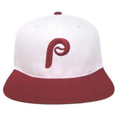 Philadelphia Phillies Retro Logo Snapback Cap Hat 2 Tone White Burgundy