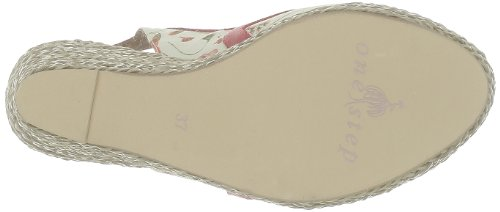 rose 41 rouge Rosa Step Donna beige One Sandali Wng6fTz