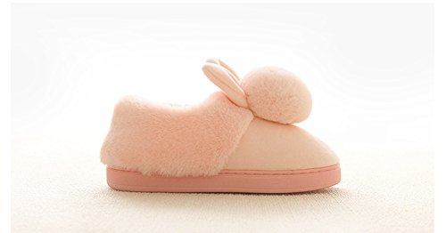 Pink Bunny Fuzzy Cute Girls Slippers Indoor Womens AGOWOO Bootie tAwU8q