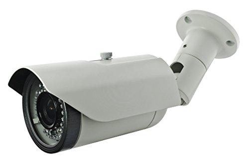 Bullet Focal Vari Ir (BW BNPT40N 2.0MP High Definition Sony DSP 4-in-1 CCTV Format TVI + CVI + AHD + CVBS Hybrid output 1080p Bullet Security Camera 2.8-12mm Vari-Focal HD Lens 42x New Generation IR LEDs IR Range 40m-White)