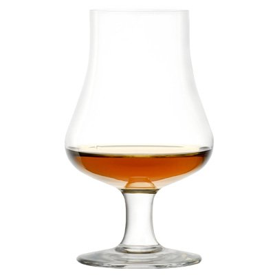 Brilliant – Highland e degustazione Nosing Scotch Glass on a stelo corto, 6.75oz. in confezione regalo
