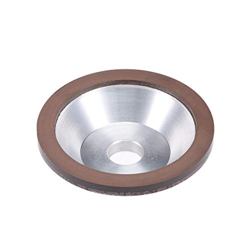 uxcell 100x32x20x10x3mm Resin Bond Cup Diamond Grinding Wheel 400 Grit for Carbide Metal ()