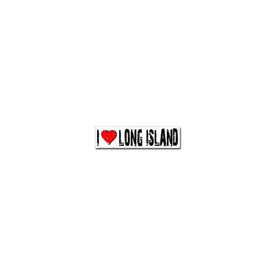 I Love Long Island   Window Bumper Sticker
