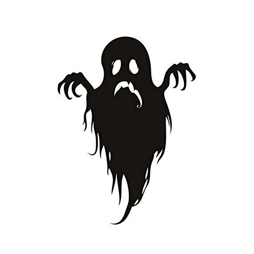 xxiaoTHAWxe Happy Halloween Cartoon Ghost Wall Sticker Decal Party Bedroom Home Decoration - Black