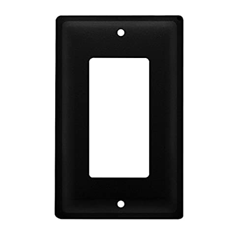 Iron Plain Single Modern Switch Cover - Heavy Duty Metal Light Switch Cover, Electrical Outlet Covers, Lightswitch Covers, Wall Plate (Cast Iron Single Rocker)