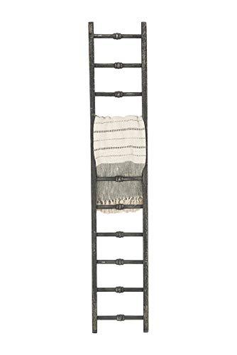 Creative Co-Op Decorative Wood Ladder Misc Furniture, Black
