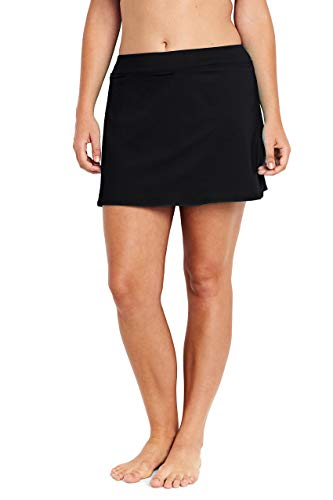 - Lands' End Women's Plus Size SwimMini Swim Skirt with Tummy Control, 24W, Black