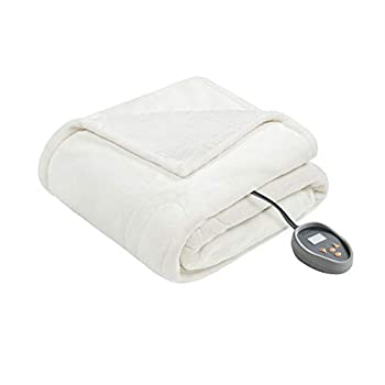 Image of Home and Kitchen Beautyrest Heated Microlight to Berber Elect Electric Blanket with Two 20 Heat Level Setting Controllers, King, Ivory