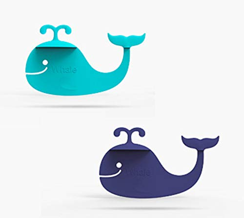 Whalemark and Hippo Bookmark - Cool Animal Bookmark Set (2 Pcs) Whale and Hippocampus Shapes by Taygate Design