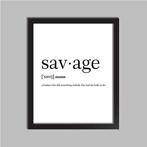savage definition dictionary art college dorm minimalist poster funny definition print dorm decor wedding office gift