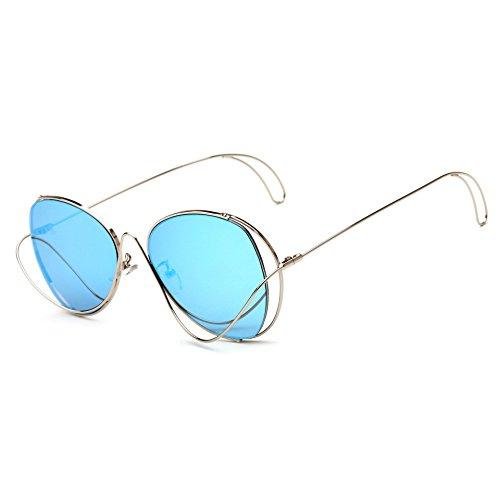 Brand Designer Steam Punk Oversized Mirror Women Sunglasses Butterfly - Goggles Reyban