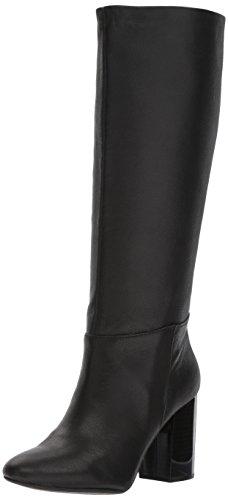 N Women's Cherry Tall Shaft Heeled Knee High Boot, Black, 7 M US (Black Cherry Leather)