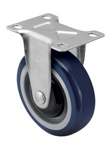 3'' x 1-1/4'' Rigid DelrinBearing TPR Gray/Gray Wheel Steel Zinc Caster by COLSON GROUP USA INC.