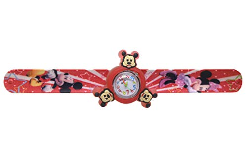 TrendyTap Minnie Mouse Spinning Analog Watch with LED Light for Girls Silicon Slap Band Non Breakable Fancy Watch for Rakhi Gift (B07VXGVJRP) Amazon Price History, Amazon Price Tracker