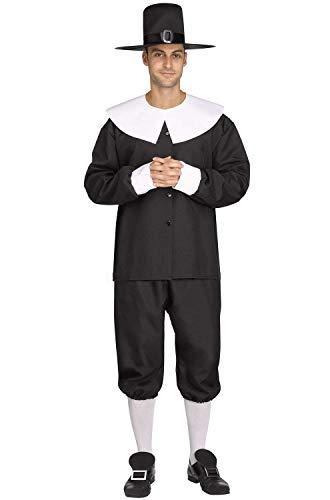 Fun World American Pilgrim Man Adult Costume-Standard ()