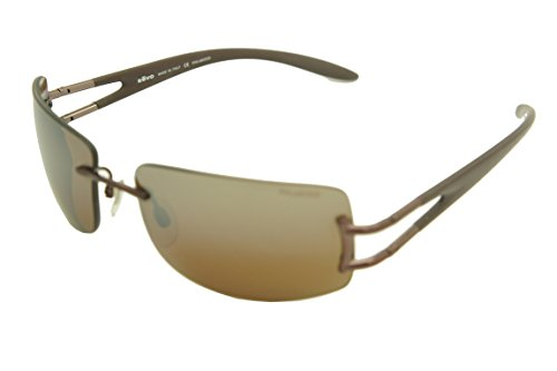 REVO Vantage Limited Edition Sunglasses (RE3069-093/X4 copper brown / polarized silver mirror brown lens, one size) Brown Polarized Silver Mirror